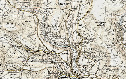Old map of Abel Cross in 1903
