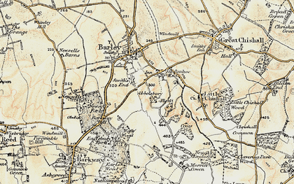 Old map of Abbotsbury in 1898-1901