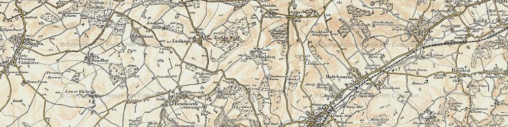 Old map of Shalden in 1897-1900
