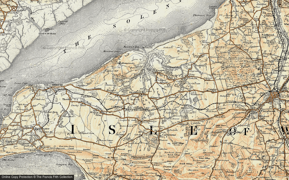Old Map of Shalfleet, 1899-1909 in 1899-1909