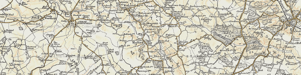 Old map of Shalford in 1898-1899