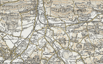 Old map of Shalford in 1898-1909