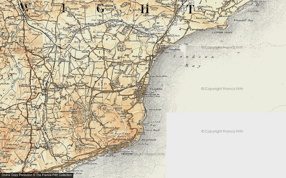 Old Map of Shanklin, 1899 in 1899
