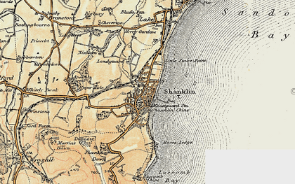 Old map of Shanklin in 1899