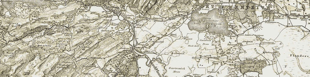 Old map of Windygate in 1904-1907