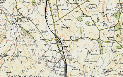 Old map of Wintertarn in 1901-1904