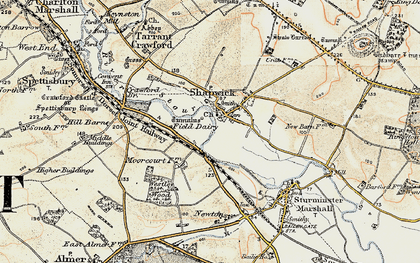 Old map of Westley Wood in 1897-1909