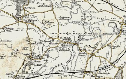 Old map of Ambaston Grange in 1902-1903