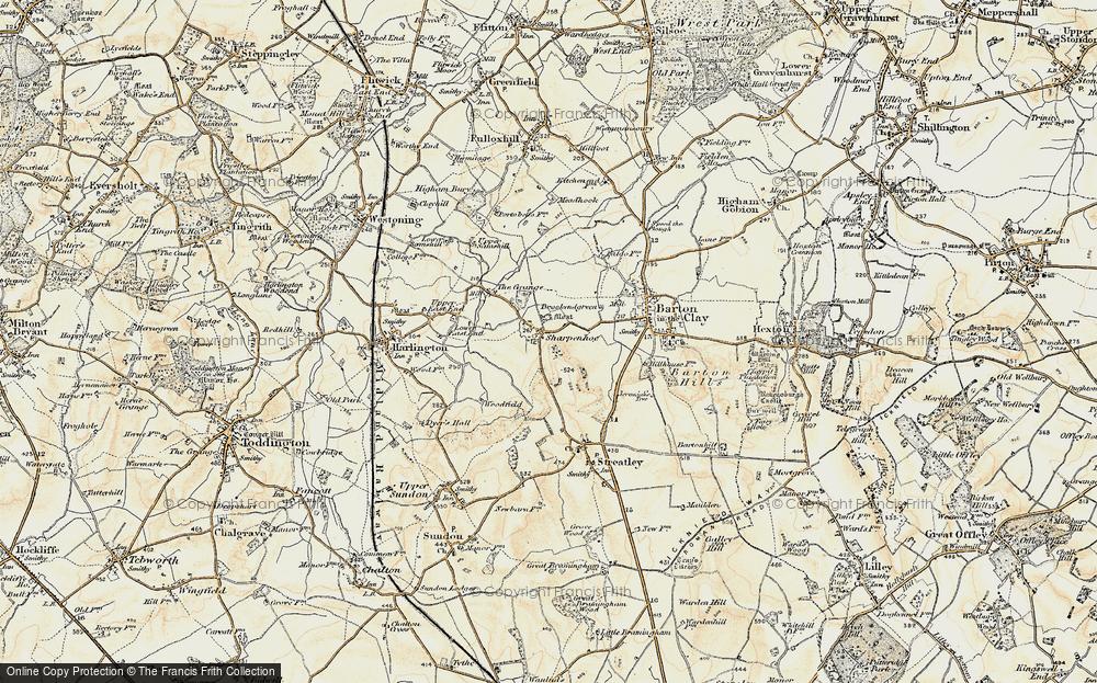 Old Map of Sharpenhoe, 1898-1899 in 1898-1899