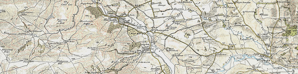 Old map of Wood Hall in 1901-1903