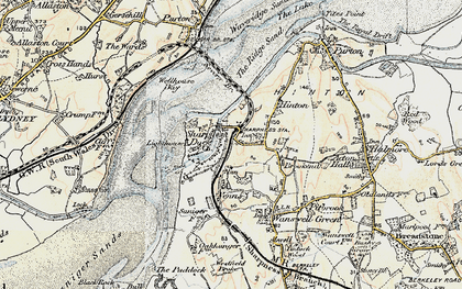 Old map of Sharpness in 1899-1900
