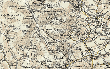 Old map of Witheybrook Marsh in 1900