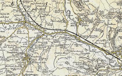 Old map of Bamford Sta in 1902-1903
