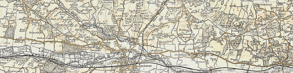 Old map of Shaw in 1897-1900