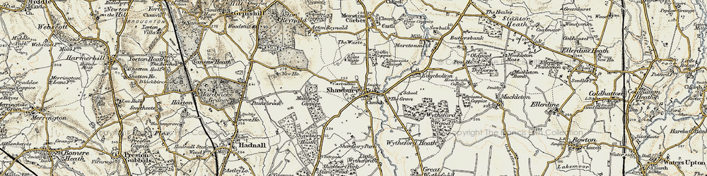 Old map of Shawbury in 1902