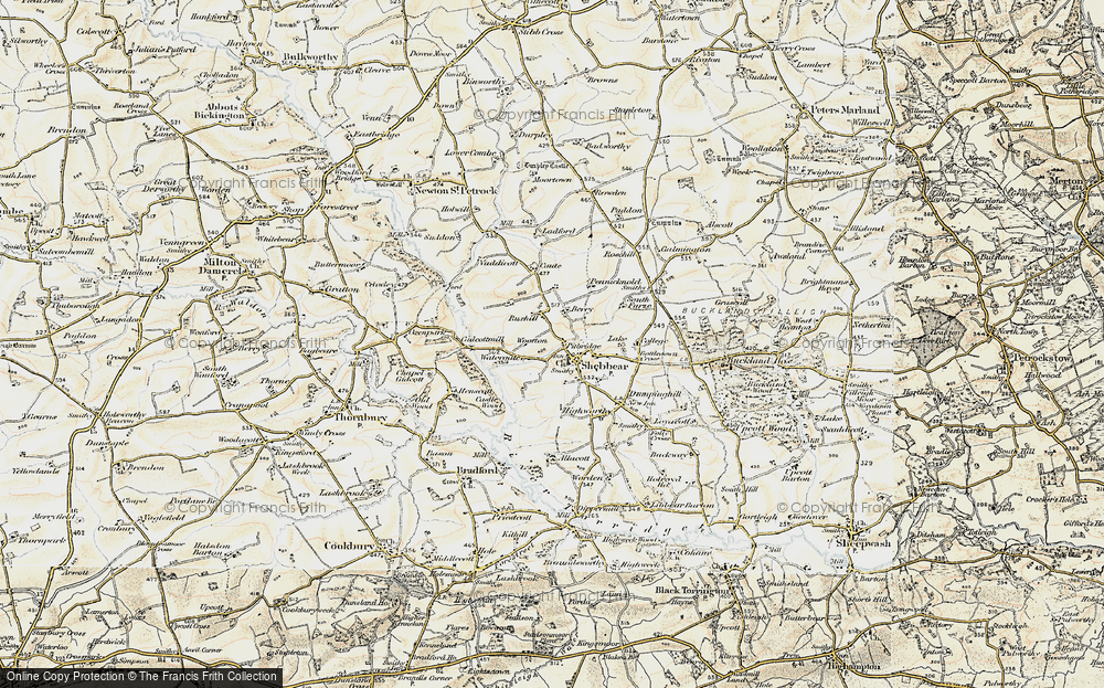 Old Map of Historic Map covering Wootton in 1900