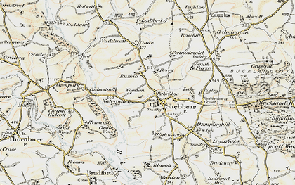 Old map of Wootton in 1900