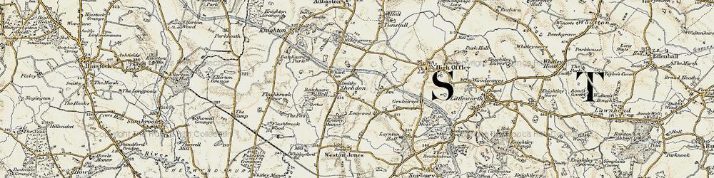 Old map of Wharf Inn in 1902