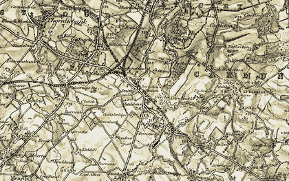 Old map of Sheddens in 1904-1905
