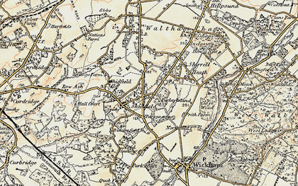 Old map of Shedfield in 1897-1899