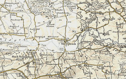 Old map of Wooda in 1900