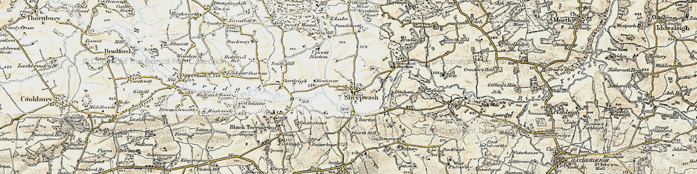 Old map of Westover in 1900