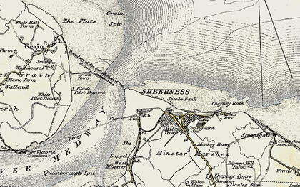 Old map of Sheerness in 1897-1898
