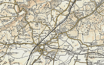 Old map of Adhurst St Mary in 1897-1900