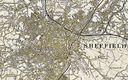 Old map of Sheffield in 1903