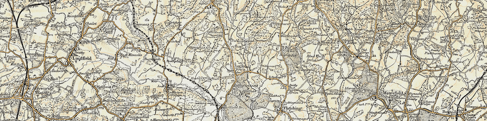Old map of Wilmshurst in 1898