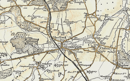 Old map of Shefford in 1898-1901