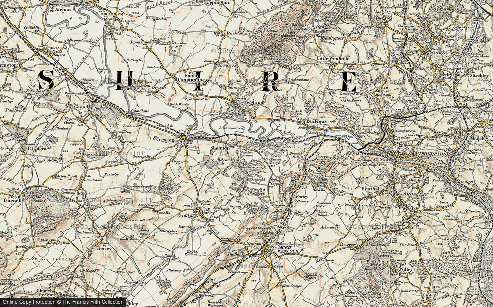 Old Map of Historic Map covering Bannister's Coppice in 1902