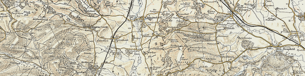 Old map of Woodhead in 1901-1903