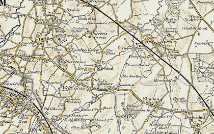 Old map of Sheldon in 1901-1902