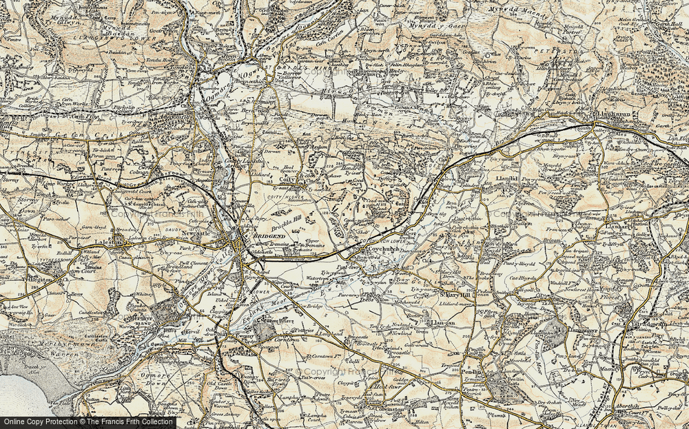 Old Map of Historic Map covering Hendre in 1899-1900