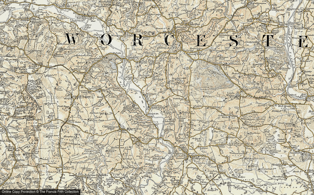 Old Map of Shelsley Beauchamp, 1899-1902 in 1899-1902
