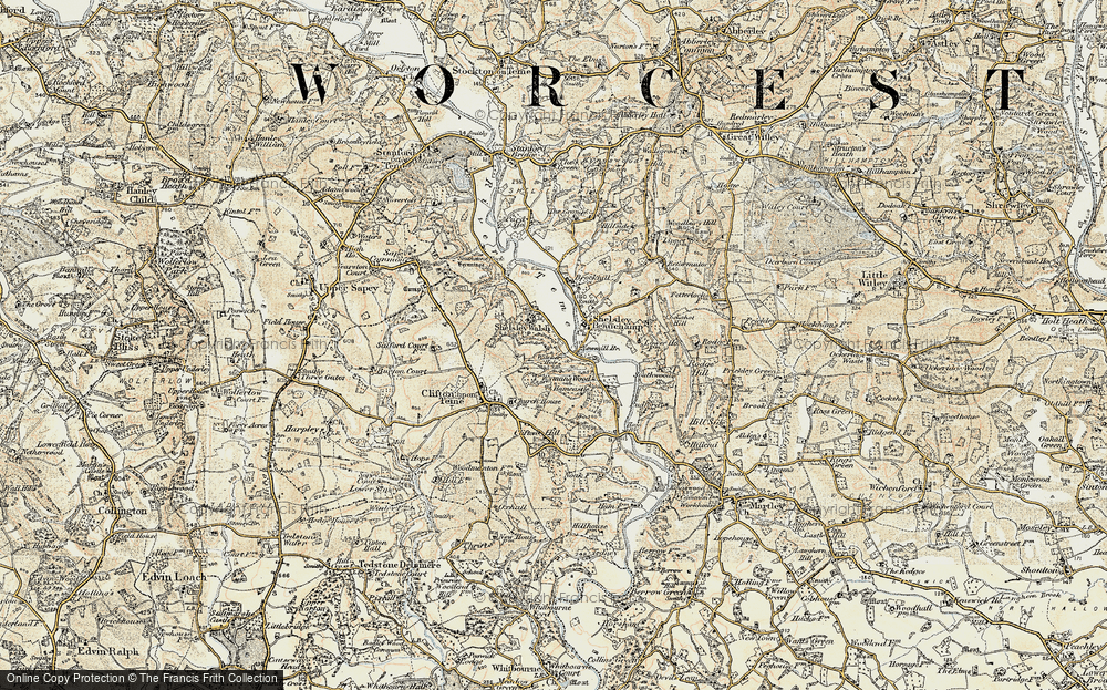 Old Map of Shelsley Walsh, 1899-1902 in 1899-1902