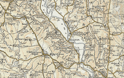 Old map of Weyman's Wood in 1899-1902