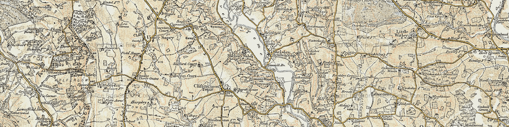 Old map of Witchery Hole in 1899-1902