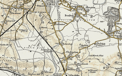 Old map of Shelton Lock in 1902-1903