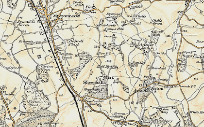 Old map of Shephall in 1898-1899