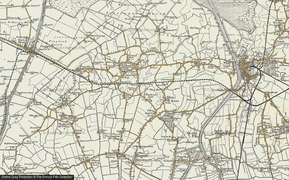 Old Map of Historic Map covering Balsamfield Ho in 1901-1902