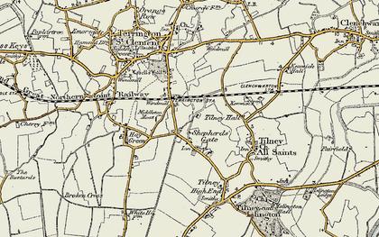 Old map of Balsamfield Ho in 1901-1902
