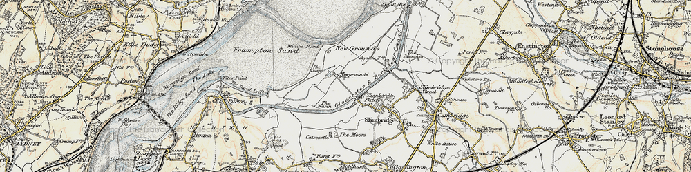 Old map of Wildfowl Trust, The in 1898-1900