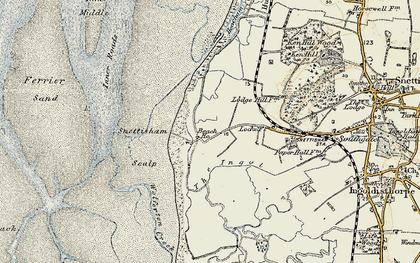 Old map of Wolferton Creek in 1901-1902
