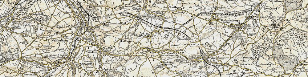 Old map of Shepley in 1903