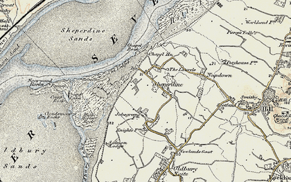 Old map of Ledges, The in 1899-1900