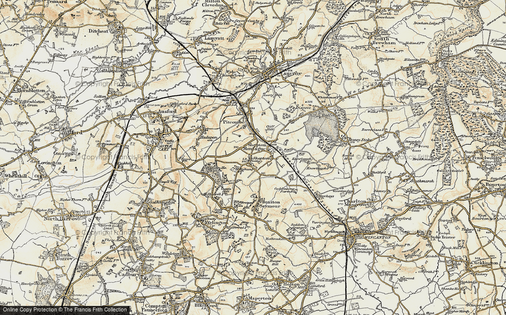Old Map of Historic Map covering Avaries,The in 1899