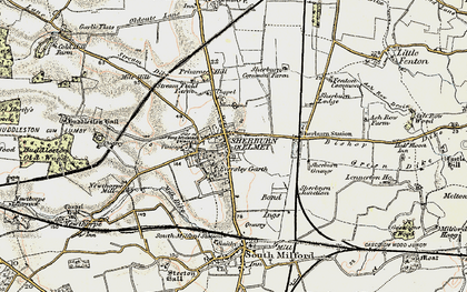 Old map of Sherburn in Elmet in 1903