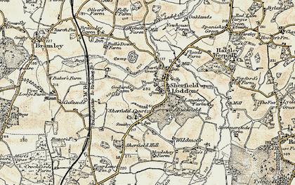 Old map of Sherfield on Loddon in 1897-1900